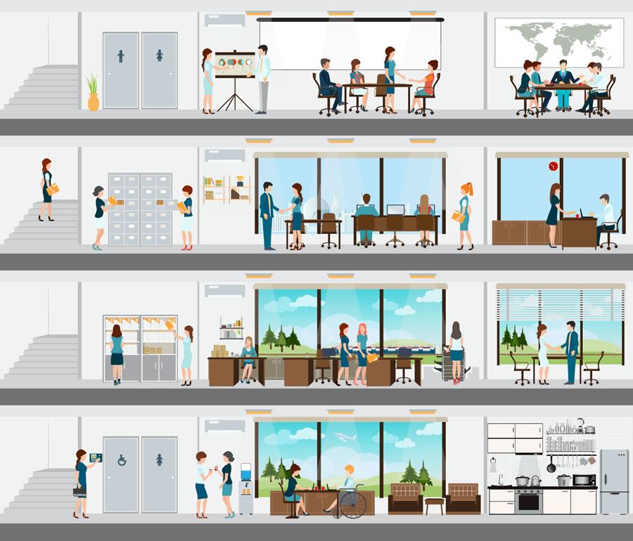 office-building illustration